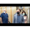 """Vizita premierului Florin Cîțu la Centrul de vaccinare organizat la Liceul Teologic Ortodox """"Nicolae Steinhardt"""""""